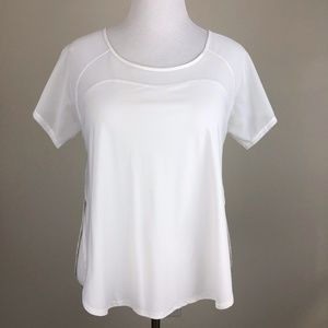 Lululemon Anew Short Sleeve Tee Tech Top White 10*